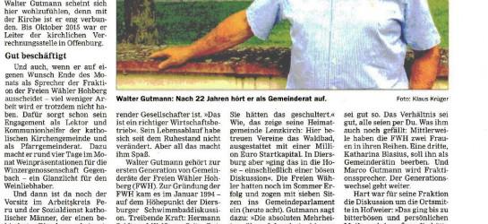 Walter Gutmanns Lust an Politik