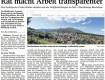 Rat macht Arbeit transparenter