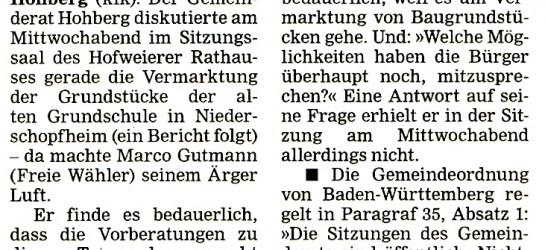 Marco Gutmann will mehr Öffentlichkeit